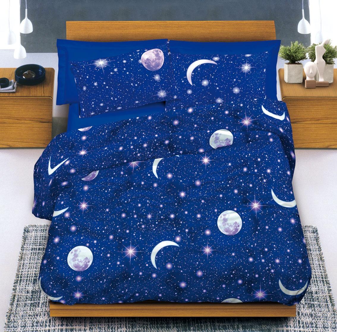 Completo lenzuola cotone lune e stelle cose di casa - Copripiumini ikea matrimoniali ...