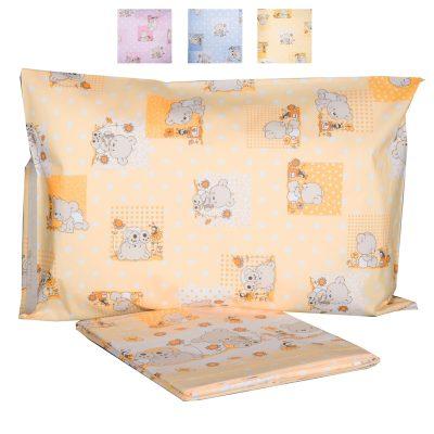 bambini lenzuola lenzuolina completo orsetti lettino