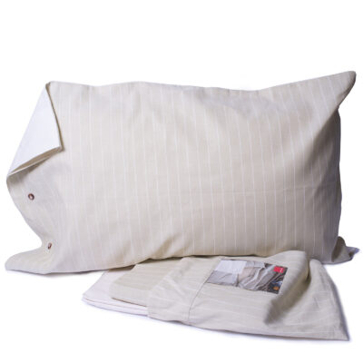 completo lenzuola righe beige zucchi casa (3)