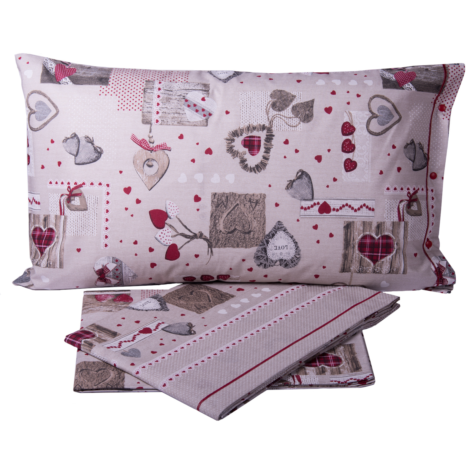 Completo lenzuola cuore tirolese cose di casa un mondo - Cose di casa mondovi ...