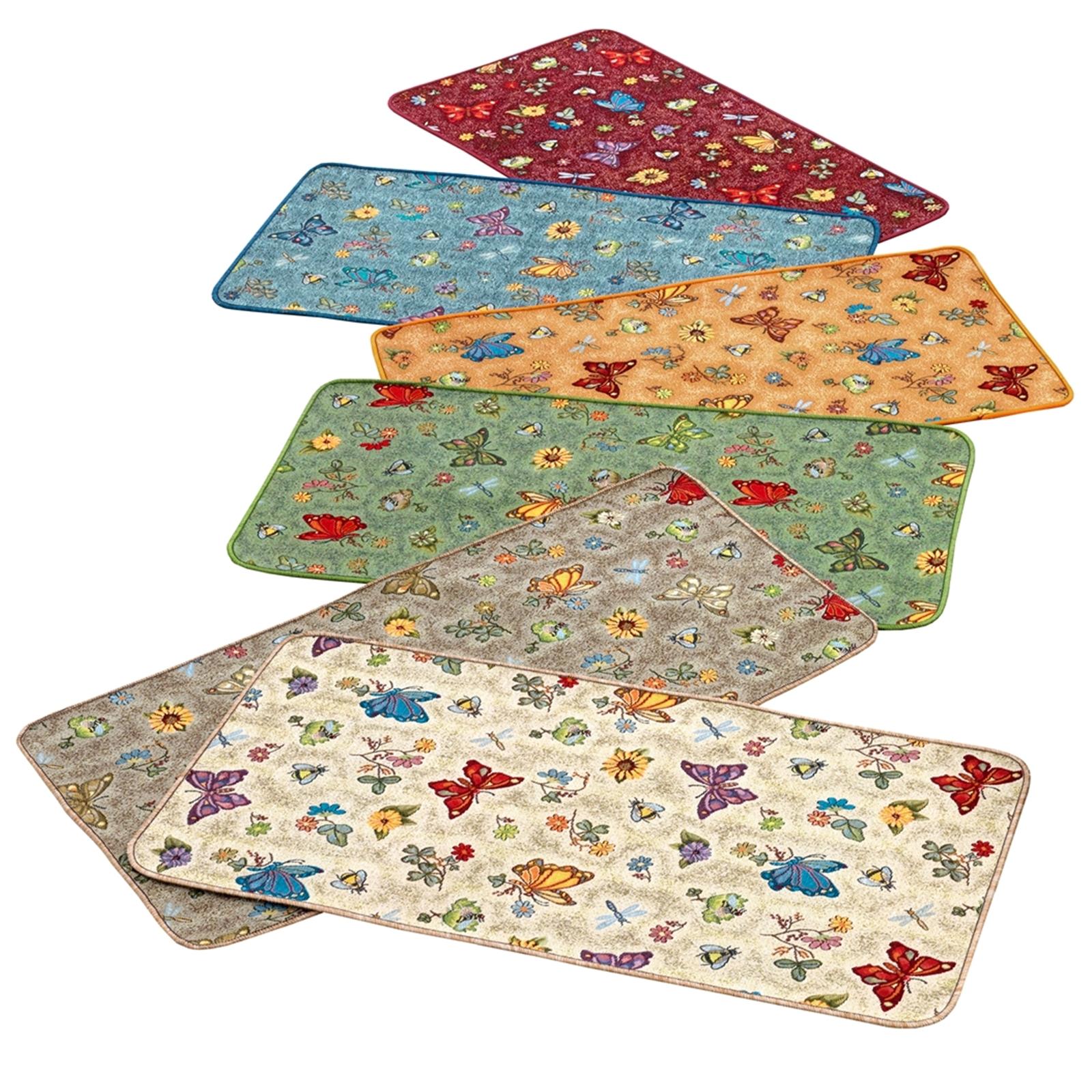 Tappeto antiscivolo farfalle cose di casa un mondo di accessori per la casa - Tappeti per bagno bassetti ...