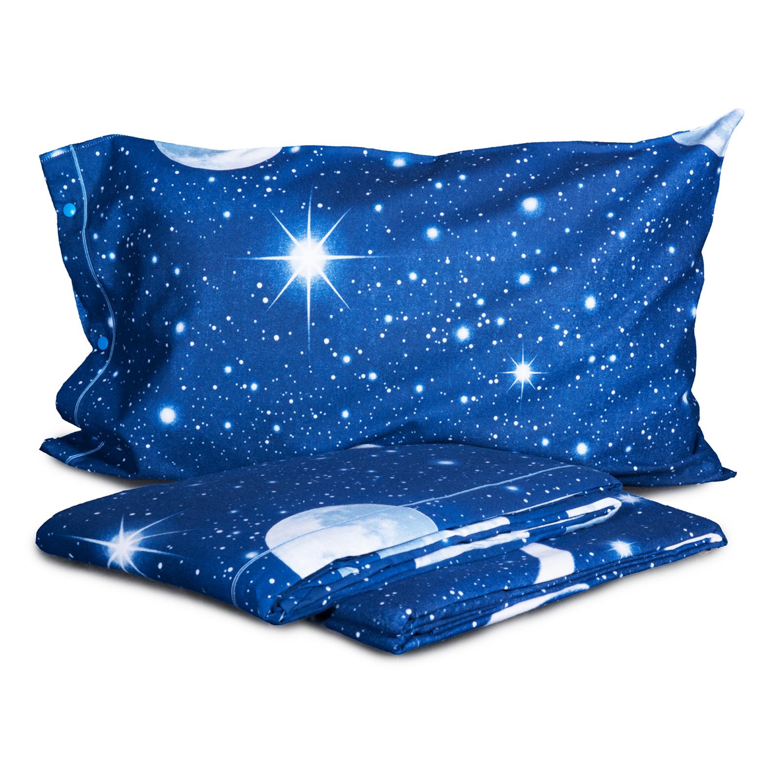 Stoffa Di Flanella Per Lenzuola completo lenzuola in flanella di puro cotone cielo stellato