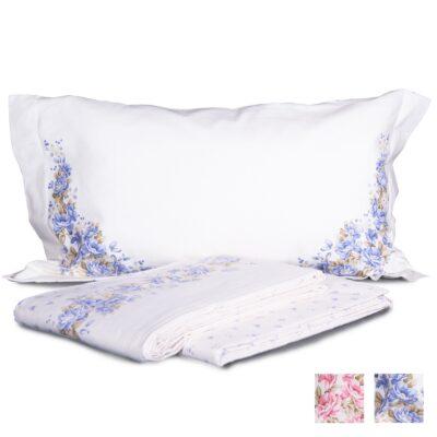 lenzuolo lenzuola flanella fiori azzurr