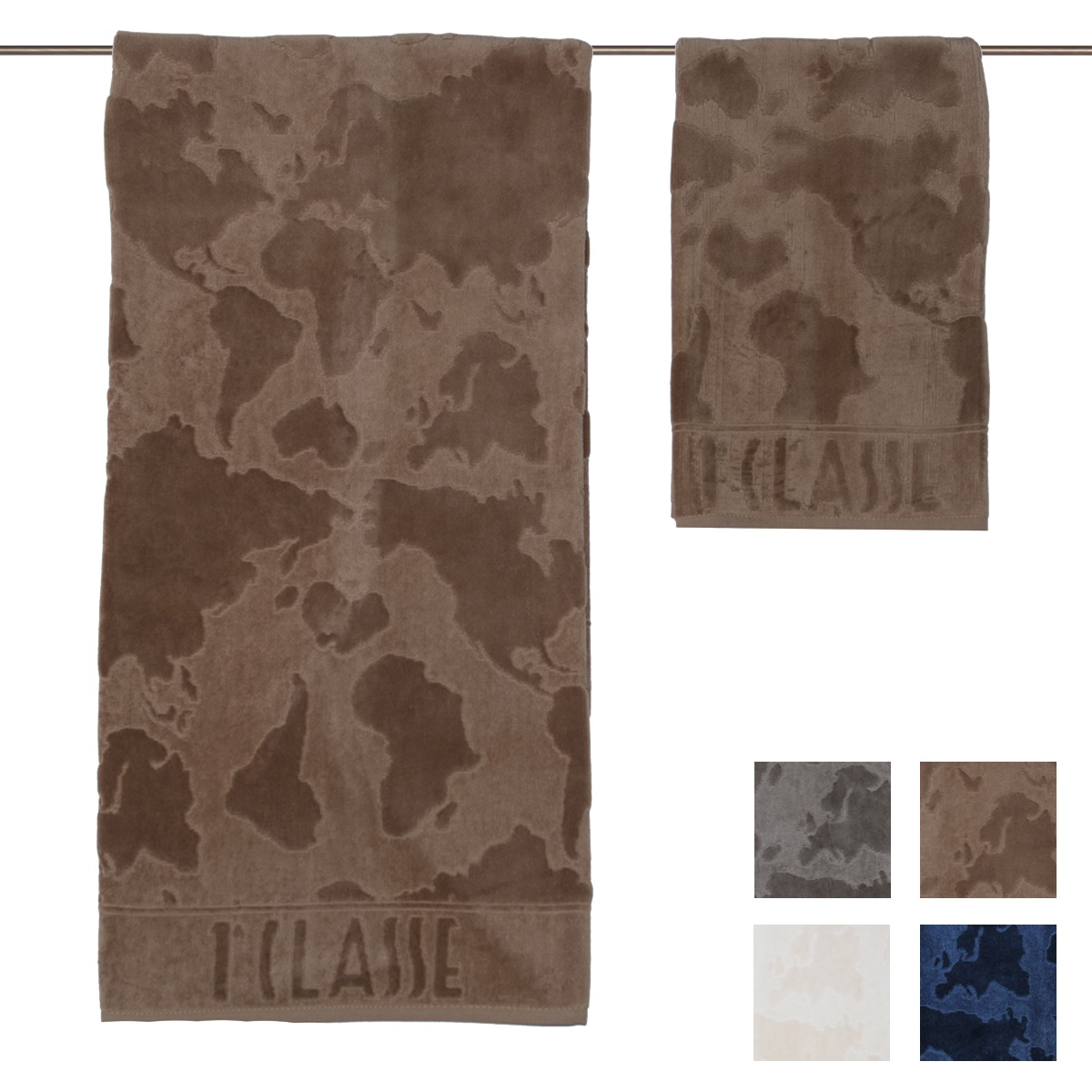 Set asciugamani viso ospite prima classe atlantis cose for Asciugamani caleffi