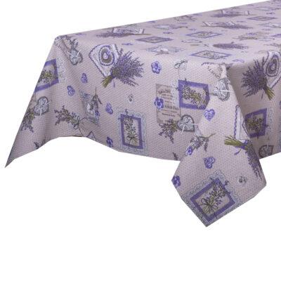 Tovaglia cotone lavanda provenza lilla fiori