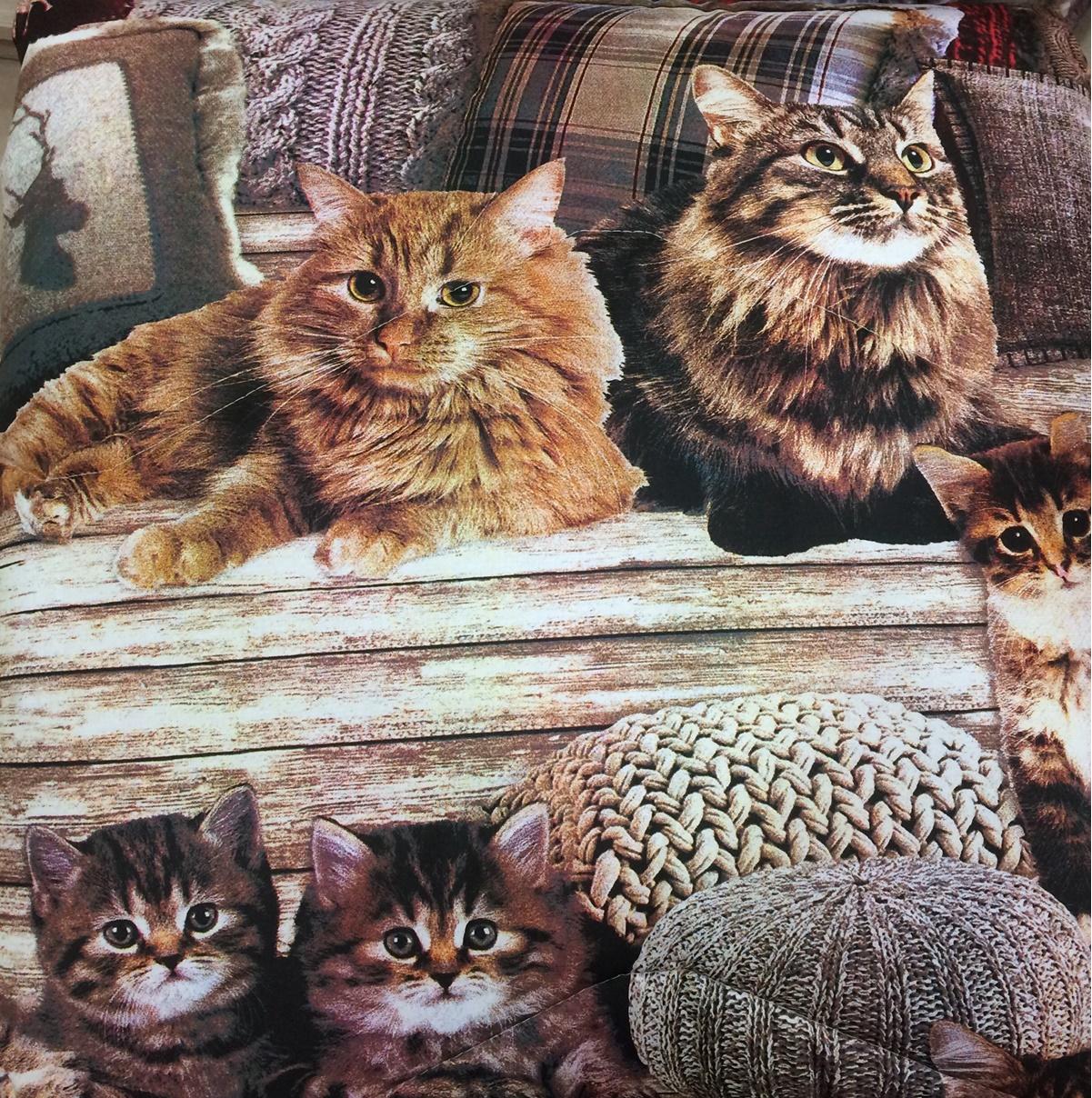 Copripiumino Matrimoniale Con Animali.Trapunta Gatti In Cotone Cose Di Casa Un Mondo Di Accessori Per